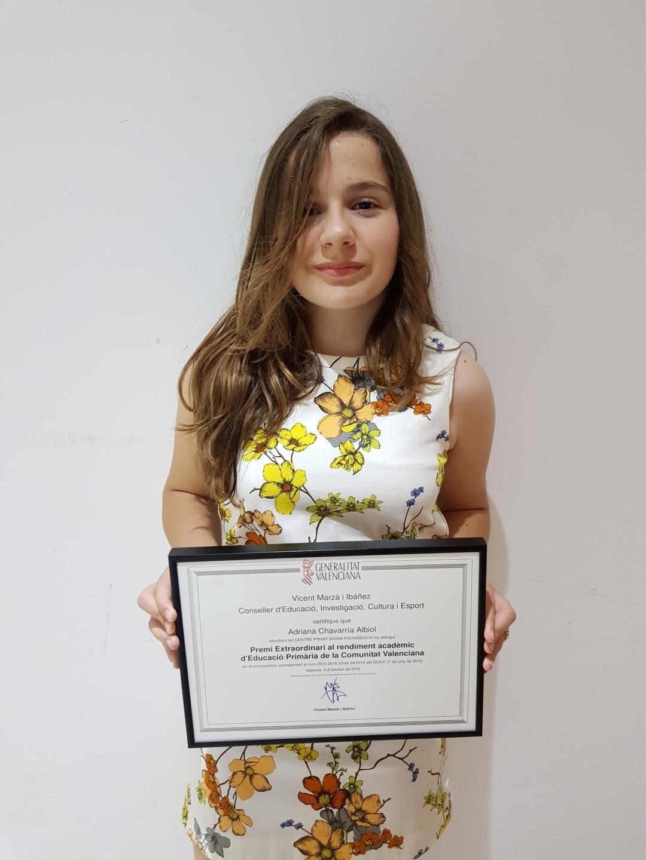 Premis extraoridinaris Adriana Chavarria