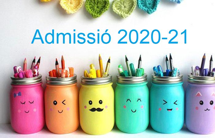 ADMISSIÓ CURS 2020-2021