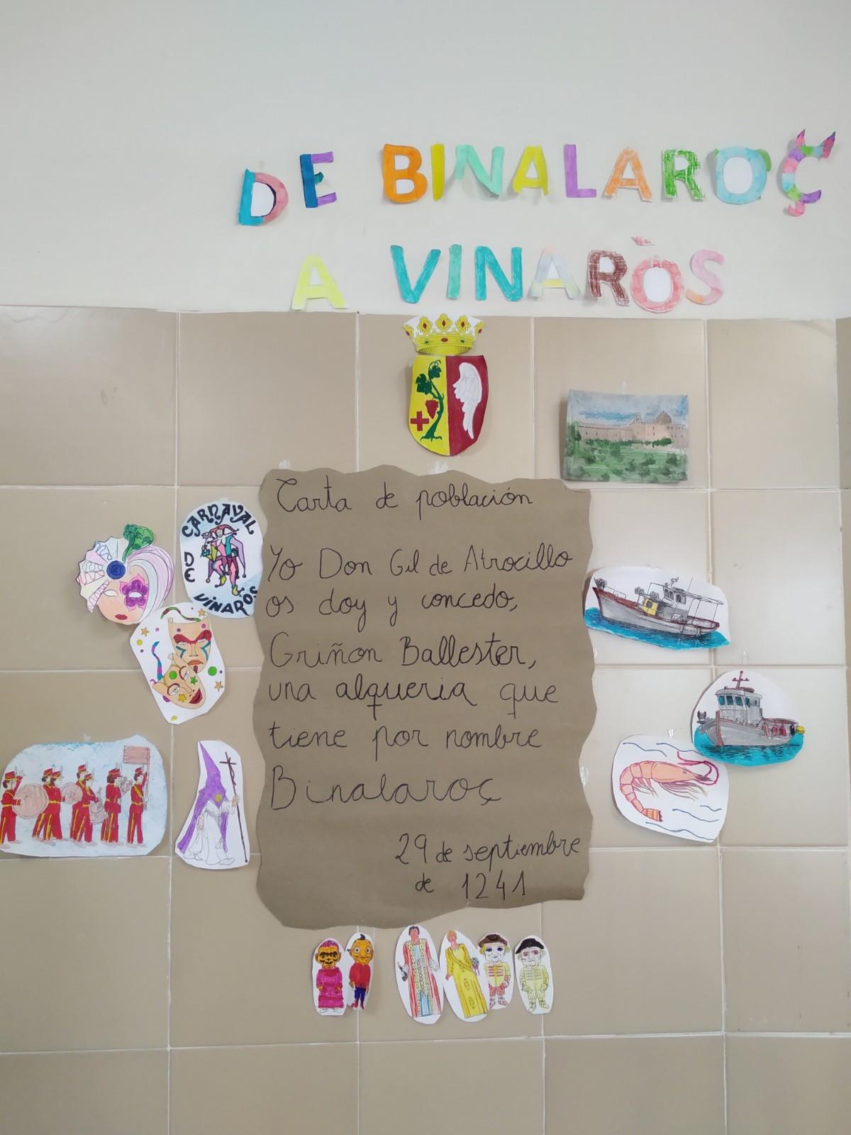 CARTA POBLA DE VINARÒS